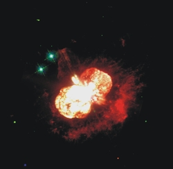 Bild des Hunnble Space Telescopes vom  Eta Carina-Nebel